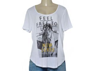T-shirt Feminino Coca-cola Clothing 343201610 Branco - Tamanho Médio