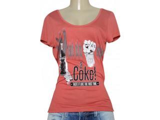 T-shirt Feminino Coca-cola Clothing 343201651 Vermelho - Tamanho Médio