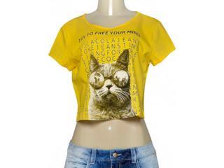 T-shirt Feminino Coca-cola Clothing 343201654 Amarelo - Tamanho Médio