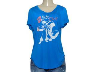 T-shirt Feminino Coca-cola Clothing 345600073 Royal - Tamanho Médio