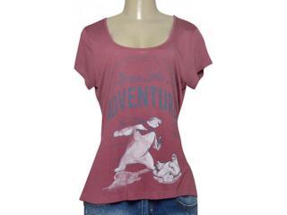 T-shirt Feminino Coca-cola Clothing 343201656 Vinho - Tamanho Médio