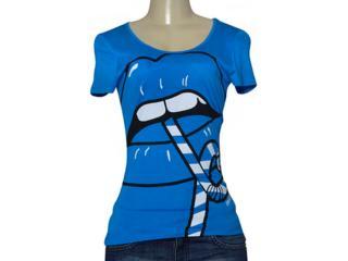 T-shirt Feminino Coca-cola Clothing 343201655 Royal - Tamanho Médio