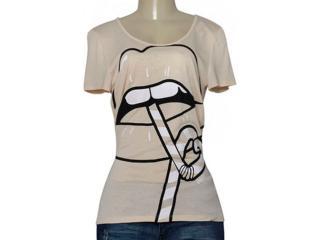 T-shirt Feminino Coca-cola Clothing 343201655 Bege - Tamanho Médio