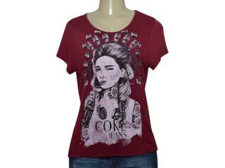 T-shirt Feminino Coca-cola Clothing 343201687 Bordo - Tamanho Médio