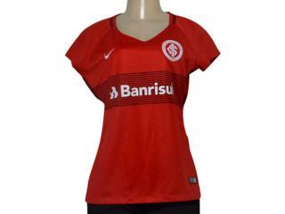 T-shirt Feminino 854704-612 Womens Breathe S.c Internacional Stadiu Vermelho - Tamanho Médio