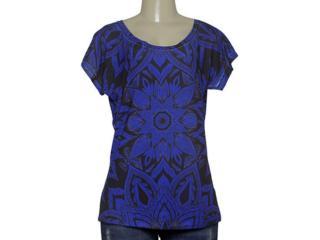 T-shirt Feminino Margo 13091 Roxo/preto - Tamanho Médio