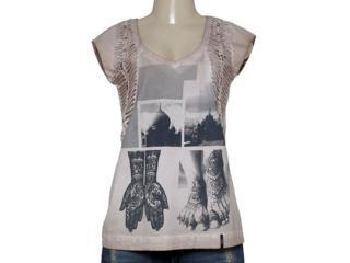 T-shirt Feminino Margo 13048 Caqui - Tamanho Médio