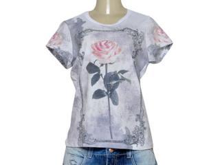 T-shirt Feminino Moikana 191196 Branco Estampado - Tamanho Médio