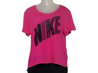 T-shirt Feminino Nike 678956-616 Prep Tee Mixed  Pink - Tamanho Médio