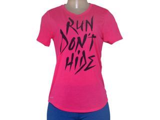T-shirt Feminino Nike 684029-667 Run Dont Hide Tee  Pink - Tamanho Médio