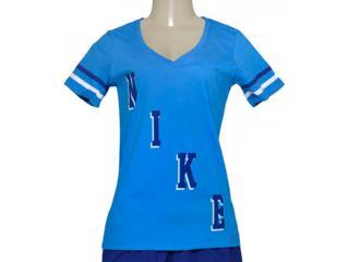 T-shirt Feminino Nike 729442-435 Tee Vneck  Azul - Tamanho Médio