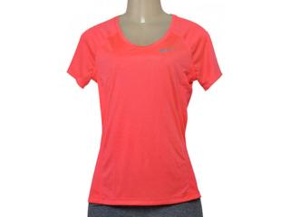 T-shirt Feminino Nike 831530-618  w nk Dry Miler Top Coral - Tamanho Médio