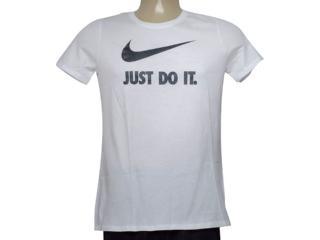 T-shirt Feminino Nike 889403-100 w Nsw Tee Crew Jdi Swsh  Branco - Tamanho Médio
