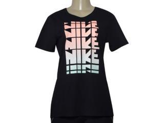 T-shirt Feminino Nike 883955-010 w Nsw Tee Wc1 Preto - Tamanho Médio