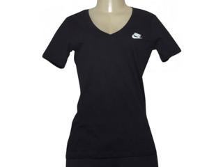T-shirt Feminino Nike 918619-010 w Nsw Tee Vneck Lbr Preto - Tamanho Médio
