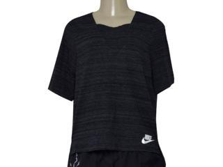 T-shirt Feminino Nike 838954-010 w Nsw Av15 Preto - Tamanho Médio