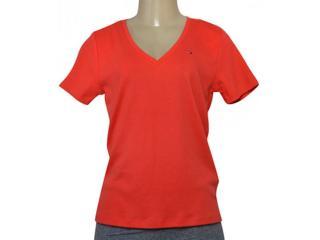 T-shirt Masculino Tommy Thww0ww11239 Coral - Tamanho Médio