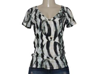 T-shirt Feminino Triton 341401024 Off White Estampado Preto - Tamanho Médio