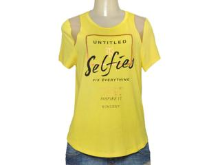 T-shirt Feminino Triton 341400944 Amarelo - Tamanho Médio