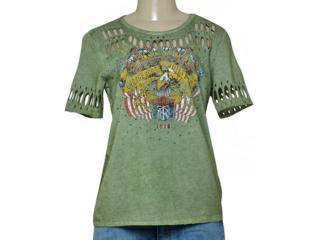 T-shirt Feminino Triton 341400974 Verde Militar - Tamanho Médio