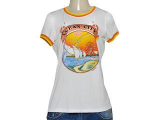 T-shirt Feminino Triton 341401204 Off White Estampado - Tamanho Médio
