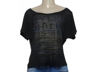T-shirt Feminino Zinco 103065 Preto - Tamanho Médio