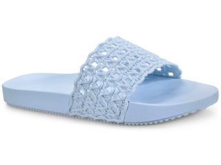 Tamanco Feminino Grendene 17669 90061 Zaxy Snap Mesh Slide  Azul - Tamanho Médio