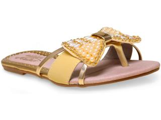 Tamanco Feminino Addan Mulher 673 Amarelo/ouro - Tamanho Médio
