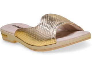 Tamanco Feminino Comfortflex 16-60401 Ouro - Tamanho Médio