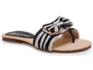 Tamanco Feminino Fiorentino 022 Zebra - Tamanho Médio