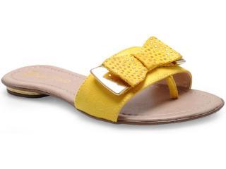 Tamanco Feminino Fiorentino 112 Amarelo - Tamanho Médio
