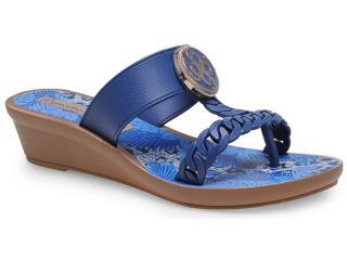 Tamanco Feminino Grendene 16848 Grendha jp Tropicana Azul Marinho - Tamanho Médio