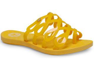 Tamanco Feminino Grendene 16854 Zaxy Fresh Inf Amarelo - Tamanho Médio