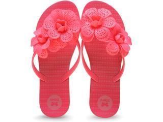 Tamanco Feminino Grendene 16963 Zaxy Fresh Garden  Rosa Neon - Tamanho Médio