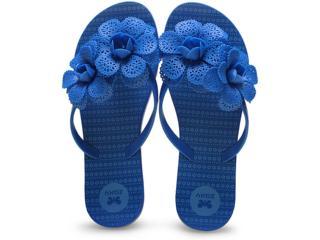 Tamanco Feminino Grendene 16963 Zaxy Fresh Garden  Azul - Tamanho Médio