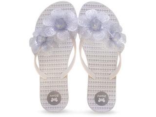 Tamanco Feminino Grendene 16963 Zaxy Fresh Gar Branco Glitter - Tamanho Médio