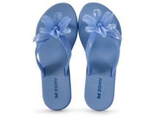 Tamanco Feminino Grendene 17469 Zaxy Fresh Beauty  Azul Listrado - Tamanho Médio