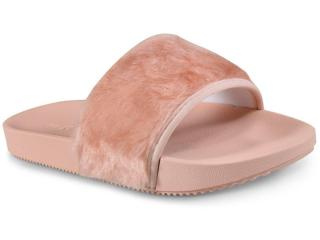 Tamanco Feminino Grendene 17551 90059 Zaxy Snap Fur Nude - Tamanho Médio
