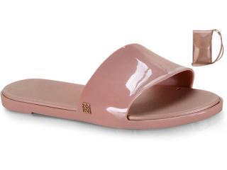 Tamanco Feminino Grendene 17996  90944 Zaxy Slide Hit+minibag Rosa Vintage - Tamanho Médio