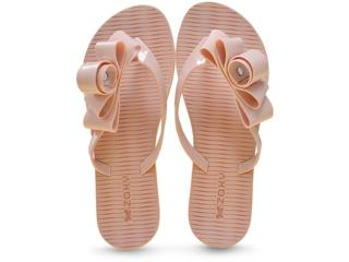 Tamanco Feminino Grendene 17325 Zaxy Fresh Glam Nude - Tamanho Médio