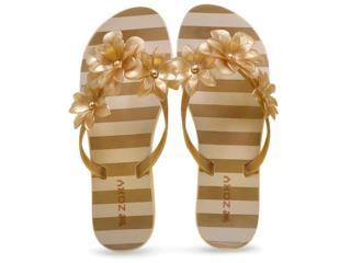 Tamanco Feminino Grendene 17289 Zaxy Fresh Dourado Gliter - Tamanho Médio