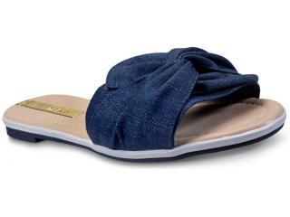 Tamanco Feminino Moleca 5297318 Jeans - Tamanho Médio