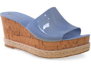 Tamanco Feminino Petite Jolie Pj1445 Azul Picina - Tamanho Médio