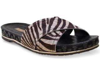 Tamanco Feminino Tanara 7683 Zebra Fibra - Tamanho Médio
