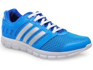 Tênis Masculino Adidas M18406 Novo Breeze 1 Azul/prata - Tamanho Médio