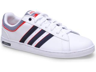 0e43f51e727cc Tênis Masculino Adidas F37934 Neo Derby Set Branco marinho vermelho