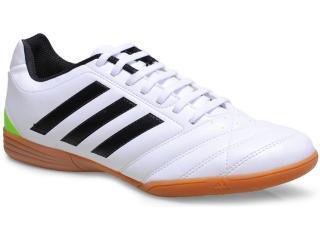 Tênis Masculino Adidas M18331 Goletto v in Branco/preto/limão - Tamanho Médio