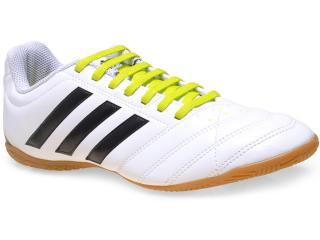 Tênis Masculino Adidas B27083 Goletto v in Branco/preto/limão - Tamanho Médio