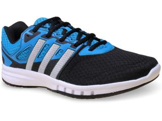Tênis Masculino Adidas B33654 Galaxy 2 m Preto/azul/branco - Tamanho Médio