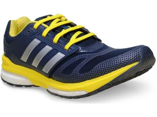 Tênis Masculino Adidas B22929 Revenge Boost 2 m tf  Marinho/amarelo - Tamanho Médio